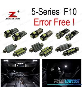 Kit completo de 22 lâmpadas LED interior para BMW F10 528i 528i 535i 535i xdrive 550i 550i M5 (2011 +)