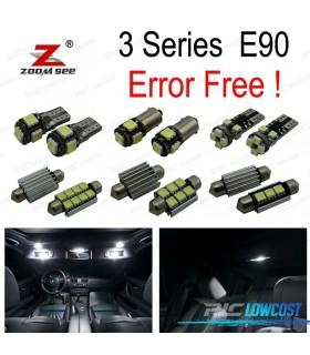 Kit completo de 15 lâmpadas LED interior para bmw E90 sedán 320d 320d xDrive 320xd 325d 325i 325xi (2005-2011)