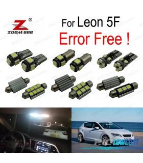 Kit completo de 16 lâmpadas LED interior para Leon MK3 5F 5F1 5F5 5F8 (2013-2018)