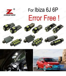Kit completo de 8 lâmpadas LED interior para asiento Ibiza V MK5 SPORTCOUPE ST 6J 6 P (2009-2016)