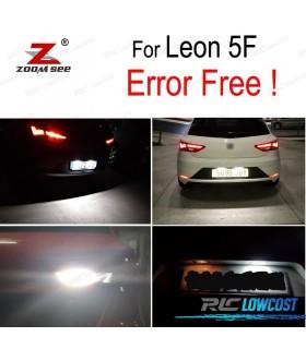 Kit completo de 4 lâmpadas LED interior para Leon MK3 5F 5F1 5F5 5F8 SC ST (2013 +)