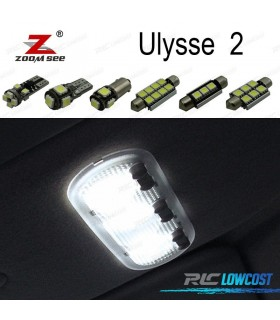 Kit completo de 15 lâmpadas LED interior para Fiat Ulysse 2 MK2 179 (2003-2011)