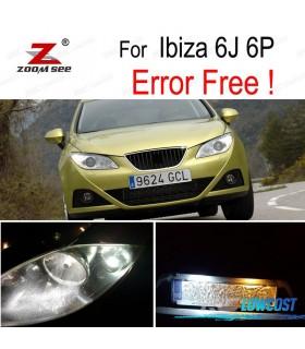 Kit completo de 6 lâmpadas LED interior para el asiento Ibiza V MK5 SPORTCOUPE ST 6J 6 P (09-16)
