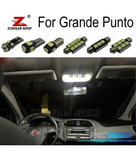 Kit completo de 9 lâmpadas LED interior para Fiat Grande Punto 199 (2005-2012)