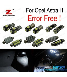 Kit completo de 15 lâmpadas LED interior para Opel Astra H OPC GTC Hatchback (2004-2009)