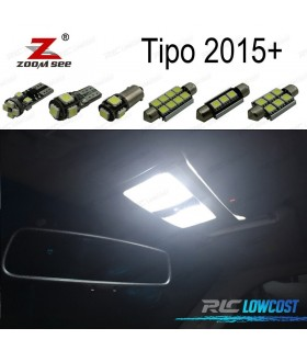 Kit completo de 6 lâmpadas LED interior para Fiat Tipo 356 de 357 (2015 +)