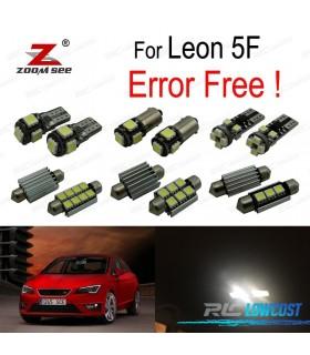 Kit completo de 14 lâmpadas LED interior para Leon MK3 5F 5F1 5F5 5F8 (2013-2018)