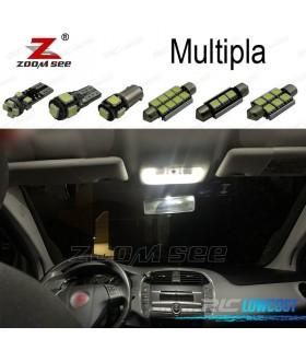 Kit completo de 7 lâmpadas LED interior para 1999-2010 Fiat Multipla
