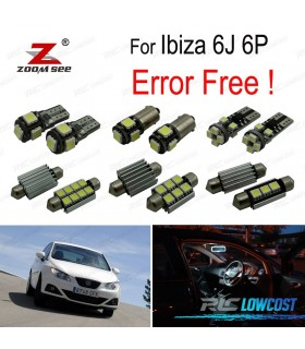 Kit completo de 6 lâmpadas LED interior para Ibiza MKV MK 5 SPORTCOUPE ST 6J 6 P (2009-2016)