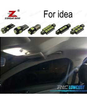 Kit completo de 9 lâmpadas LED interior para 2003-2012 Fiat
