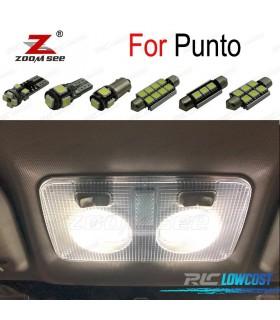 Kit completo de 10 lâmpadas LED interior para 2000-2017 Fiat 188 199