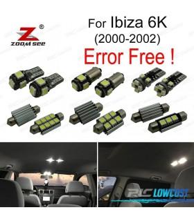 Kit completo de 7 lâmpadas LED interior para Ibiza 3 Mk III 6 k (2000-2002)