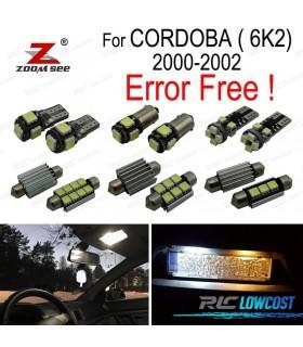 Kit completo de 7 lâmpadas LED interior para Córdoba 6K2 (2000-2002)