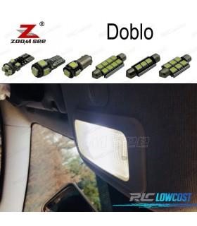 Kit completo de 7 lâmpadas LED interior para 2000-2017 Fiat Doblo