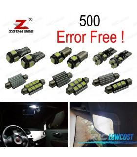Kit completo de 7 lâmpadas LED interior para 2007-2017 Fiat 500