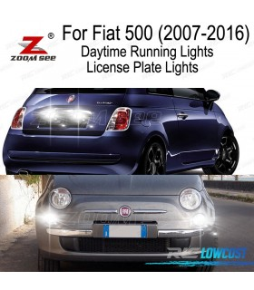 Kit completo de 6 lâmpadas LED interior para Fiat 500 solo Easy Lounge Pop Sport Trekking Turbo (2007-2016)