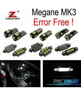 Kit completo de 14 lâmpadas LED interior para 2009-2015, Renault Megane III 3 MK3 Hatchback