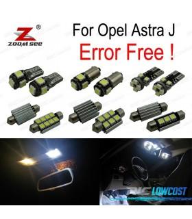 Kit completo de 9 lâmpadas LED interior para Opel Astra J Vauxhall OPC GTC Sports Tourer Hatchback (2009-2015)