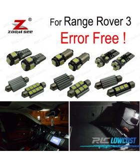 Kit completo de 23 lâmpadas LED interior para Land Rover 3 (2002-2005)