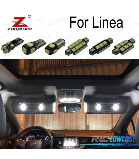 Kit completo de 11 lâmpadas LED interior para 2007-2014 Fiat linea