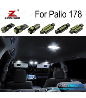 Kit completo de 7 lâmpadas LED interior para 2002-2011 Fiat Palio 178
