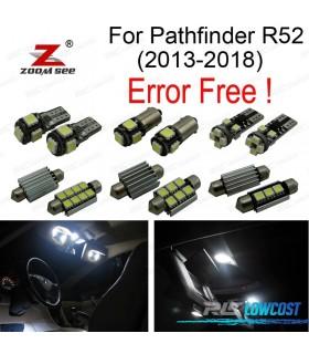 Kit completo de 13 lâmpadas LED interior para Nissan Pathfinder R52 (2013 -2018)
