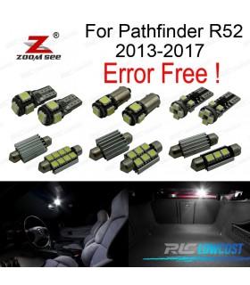 Kit completo de 7 lâmpadas LED interior para Nissan Pathfinder R52 (2013-2017)