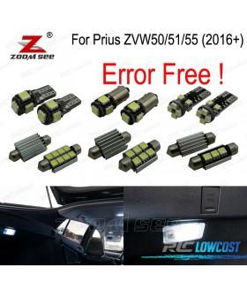 Kit completo de 14 lâmpadas LED interior para Toyota Prius ZVW50 ZVW51 ZVW55 (2016 +)