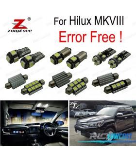 Kit completo de 3 lâmpadas LED interior para Toyota Hilux MK8 MKVIII (2015 +)
