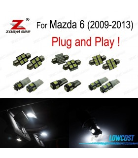 Kit completo de 7 lâmpadas LED interior para Mazda 6 (2009- 2013)