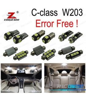 Kit completo de 14 lâmpadas LED interior para Mercedes-Benz Clase C W203 C230 C240 C280 C320 C32 AMG C55 AMG (00-07)