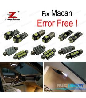 Kit completo de 10 lâmpadas LED interior para Porsche Macan S Turbo (2014 +)