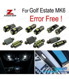 Kit completo de 15 lâmpadas LED interior para VW Golf Finca 6 Golf carro VI MK6 (2010-2013)