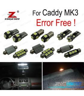 Kit completo de 13 lâmpadas LED interior para Volkswagen Caddy MK 3 MKIII (2004- 2014)