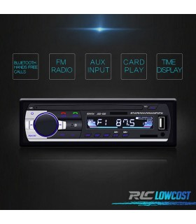 AUTO RADIO 1DIN BLUETOOTH MP3 USB SD AUX