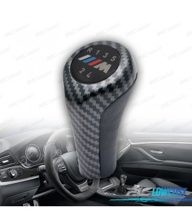 MANETE DE MUDANÇAS PUNHO LOOK M CARBONO BMW 5 VELOCIDADES
